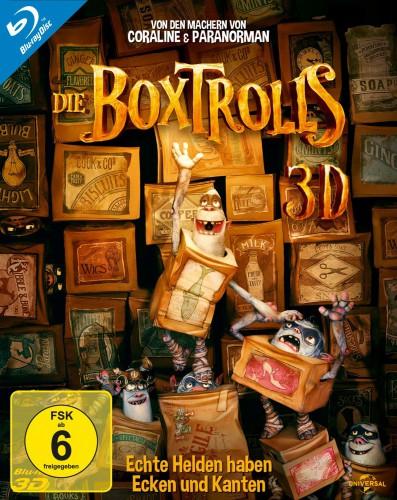 Boxtrolls 3D Blu-ray Review Cover