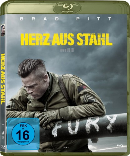 Herz aus Stahl Fury Blu-ray Review Cover