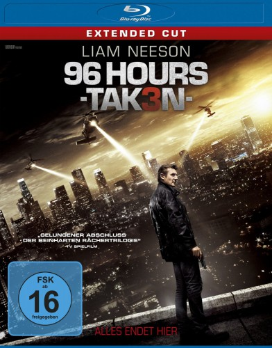 96 Hours - Taken 3 Blu-ray Review Cover