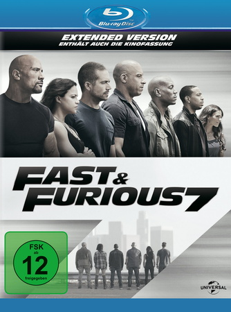 Fast & Furious 7 Extended Version Blu-ray Review Cover