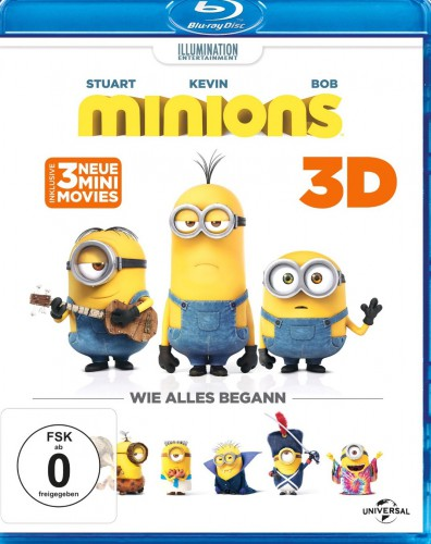 Minions 3D Blu-ray Review Cover