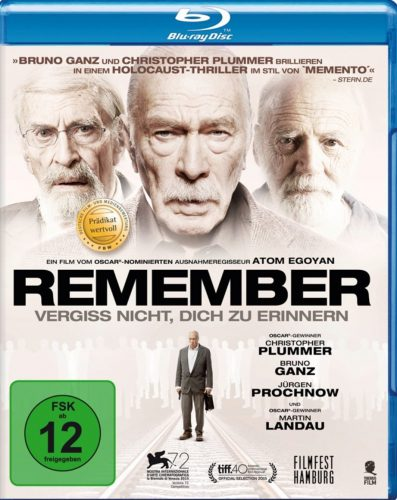 Remember - Vergiss nicht, dich zu erinnern Blu-ray Review Cover