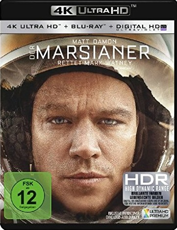 Der Marsianer - Rettet Mark Watney UHD Blu-ray Cover