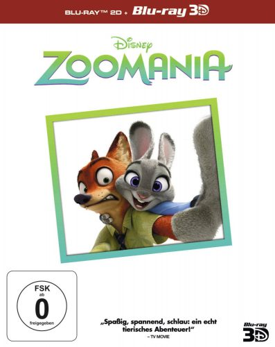 Zoomania 3D Blu-ray Review Cover