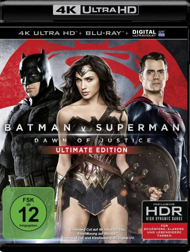 Batman v Superman Dawn of Justice Blu-ray UHD 4K Review Cover