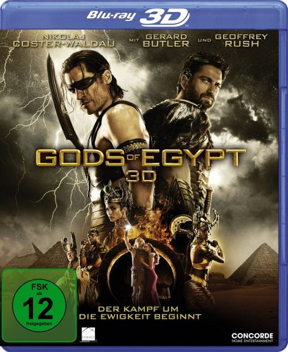 Gods of Egypt 3D Blu-ray Review Cover