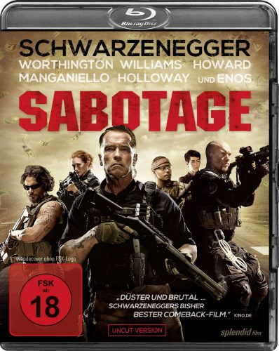 Sabotage Uncut Blu-ray Review Cover