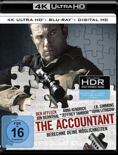 The Accountant - Berechne deine Möglichkeiten 4K UHD Blu-ray Review Cover
