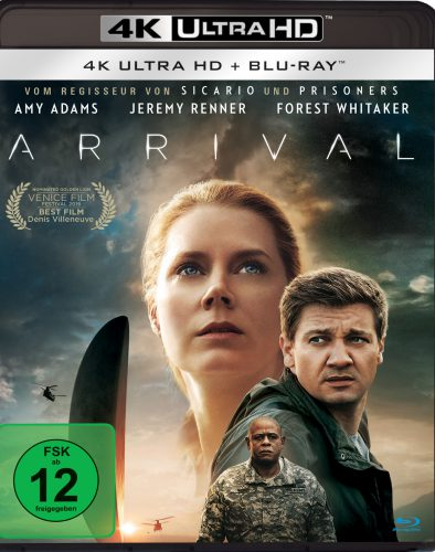 Arrival 4K UHD Blu-ray Review Cover