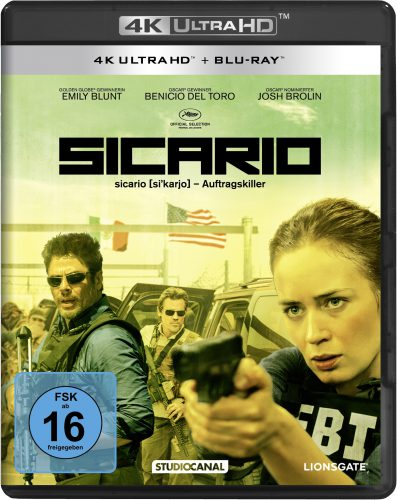 Sicario 4K UHD Blu-ray Review Cover