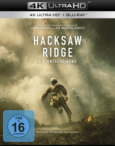 Hacksaw Ridge - Die Entscheidung 4K UHD Blu-ray Review Cover