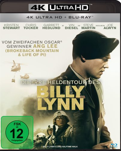 Die irre Heldentour des Billy Lynn 4K UHD Blu-ray Review Cover