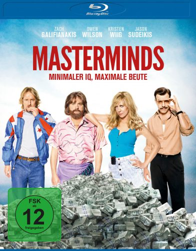 Masterminds - Minimaler IQ. Maximale Beute Blu-ray Review Cover