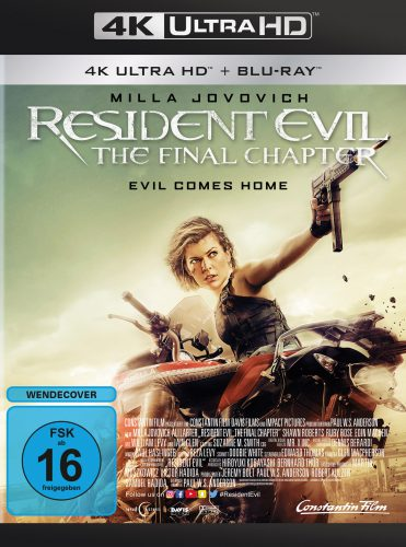 Resident Evil - The Final Chapter 4K UHD Blu-ray Review Cover