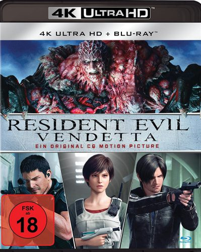 Resident Evil Vendetta 4K UHD Blu-ray Review Cover
