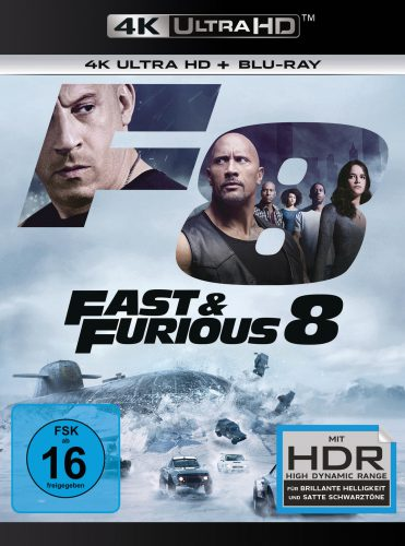 Fast & Furious 8 4K UHD Blu-ray Review Cover