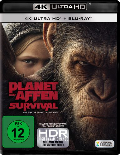 Planet der Affen Survival 4K UHD Blu-ray Review Cover
