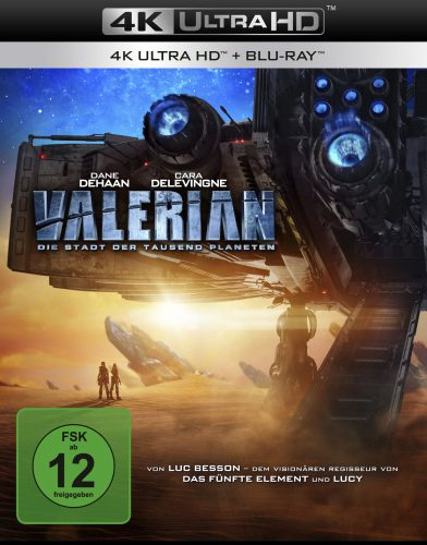 Valerian - Die Stadt der tausend Planeten 4K UHD Blu-ray Review Cover
