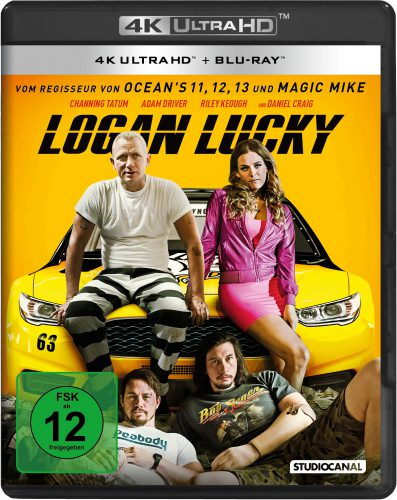 Logan Lucky 4K UHD Blu-ray Review Cover