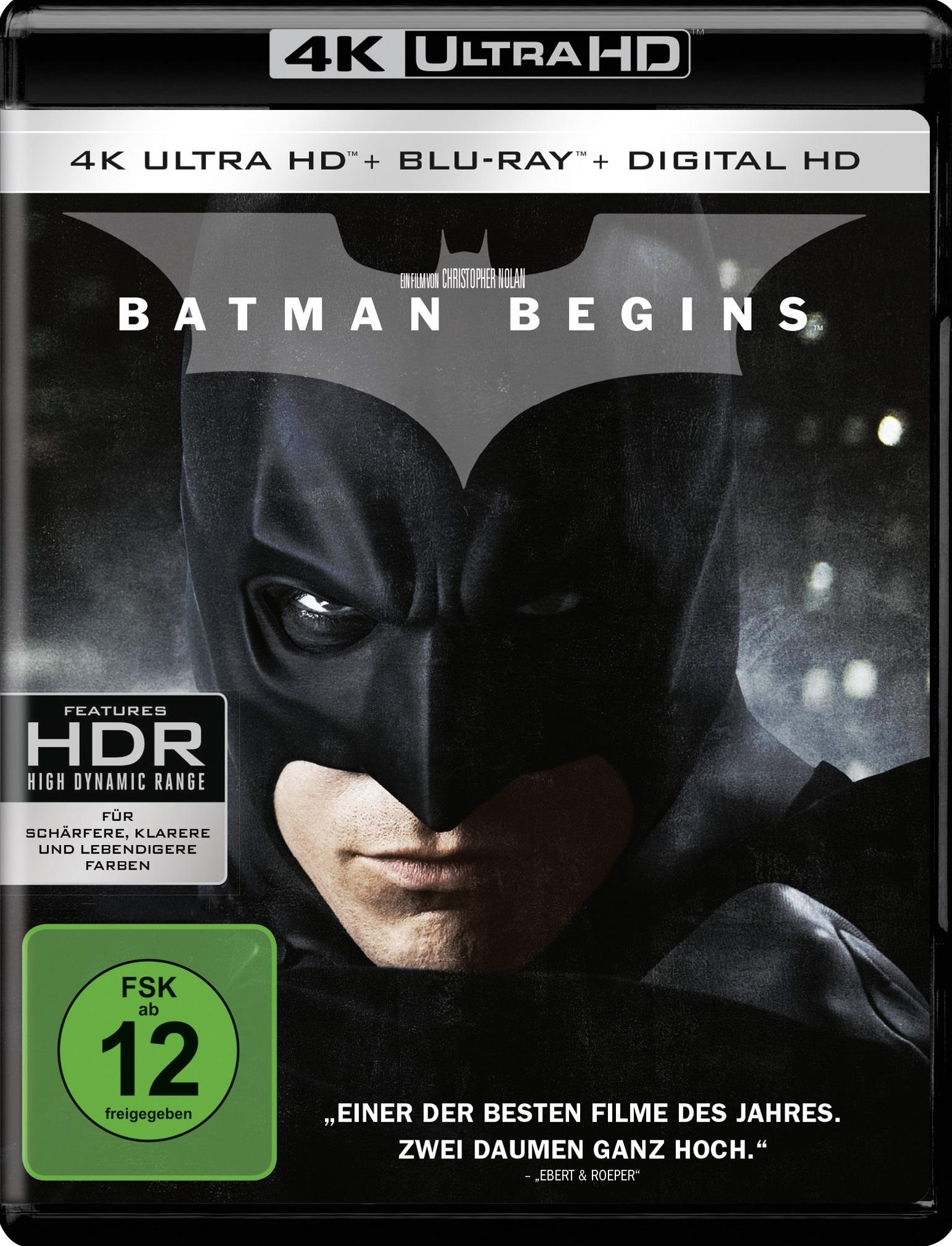 UHD Blu-ray Kritik | Batman Begins (4K Review, Rezension, Chris Nolan)