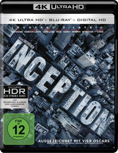Inception 4K UHD Blu-ray Review Cover