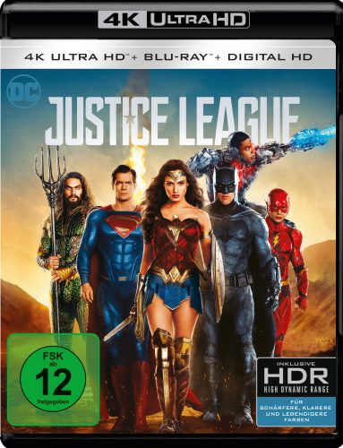 Justice League 4K UHD Blu-ray Review Cover