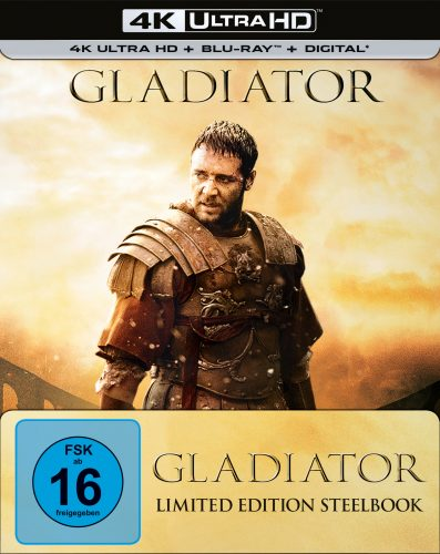 Gladiator Limited Steelbook 4K UHD Blu-ray Review Cover