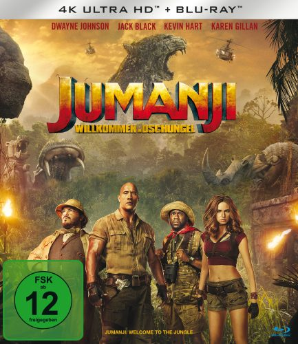 Jumanji - Willkommen im Dschungel 4K UHD Blu-ray Review Cover