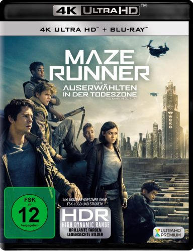 Maze Runner - Die Auserwählten in der Todeszone 4K UHD Blu-ray Review Cover
