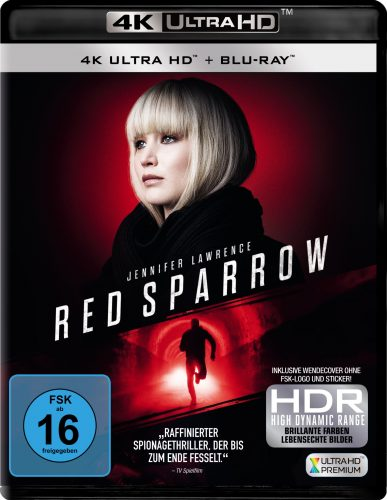 Red Sparrow 4K UHD Blu-ray Review Cover