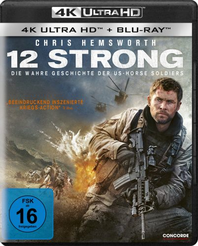 12 Strong 4K UHD Blu-ray Review Cover