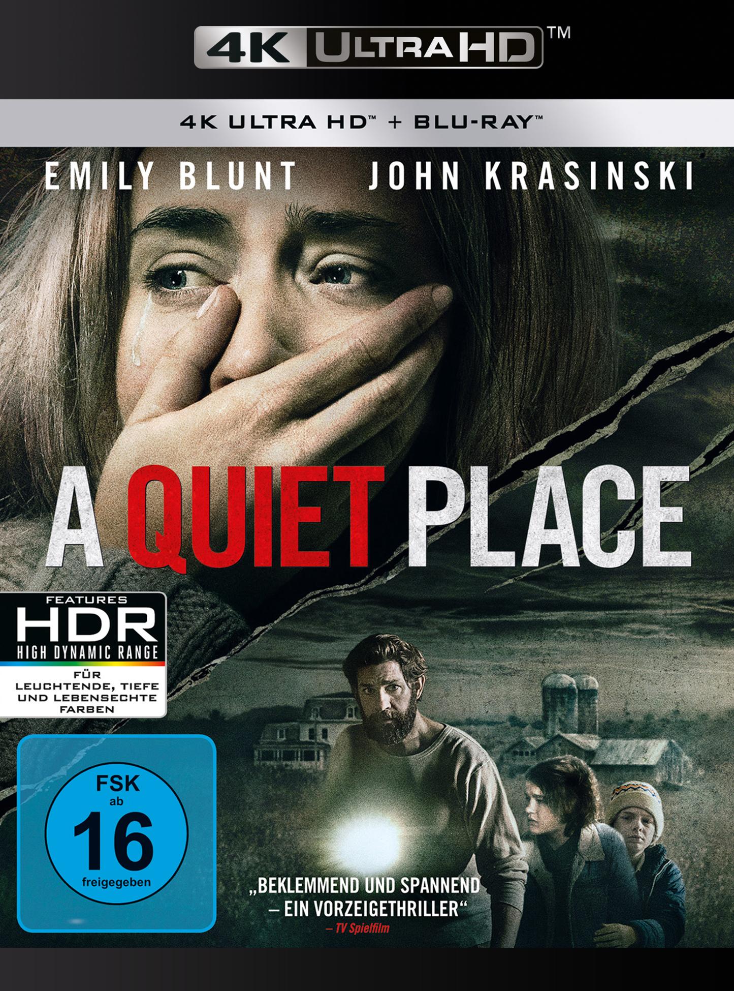 UHD Blu-ray Kritik | A Quiet Place (4K Review, Rezension, Emily Blunt)