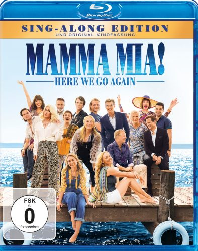 mamma mia here we go again blu-ray review cover