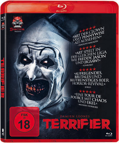 terrifier blu-ray review cover